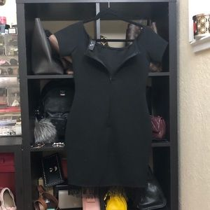 Off the shoulder body-con dress